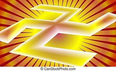 Swastika - Illustration of Swastika symbol in colour...