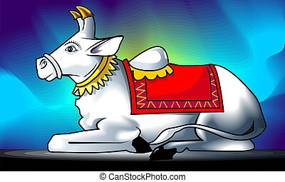 Nandi - Illustration of Lord Nandiu2019s statue
