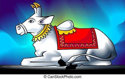Nandi - Illustration of Lord Nandi%u2019s statue