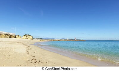 Beach in Lagos in Portugal - Beach in Lagos in the Algarve...