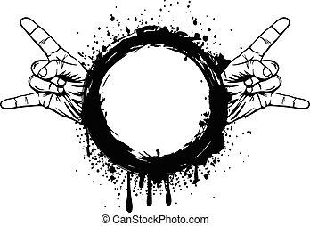 grunge frame - Abstract vector illustration grunge frame...