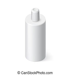 Shampoo Icon - Single Bottle of Shampoo in Isometric Style...
