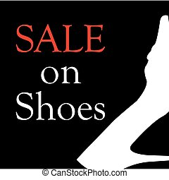 Sale on shoes with shoe - Sale on shoes with silhouette of a...