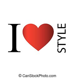I love styles text with red heart