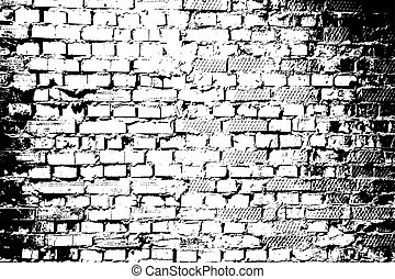 Brick wall texture vector.