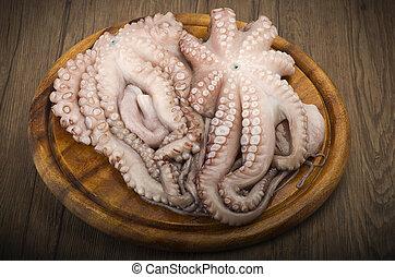 fresco, octopus, ,