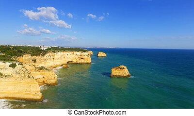 Aerial from Praia Marinha Portugal - Aerial from Praia...
