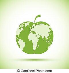 Earth apple shape