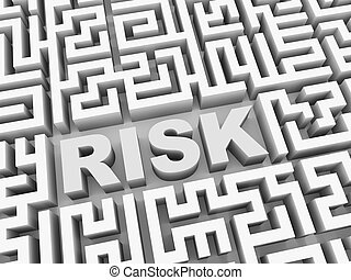 3d word risk in puzzle labyrinth maze