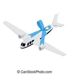 Isometric toy aircraft - Isometric realistic toy aircrafrt...