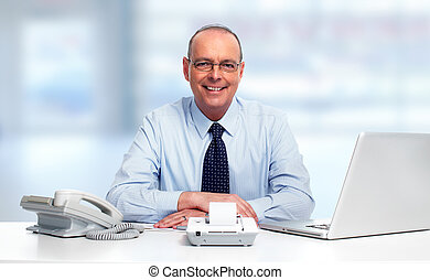 Businessman working in the office.