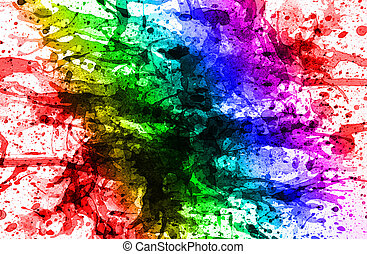 Multicolor background - abstract multicolor from watercolor...