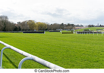 Horse Racing Track - Jump fences on horse racing course