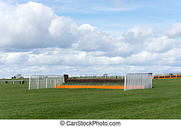 Horse Racing Jump Fence - Jump fence on horse racing course