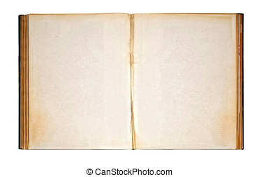 Worn Blank Pages of Old Open Antique Book