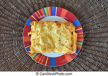 cannelloni al forno - Cannelloni al forno dish closeup...