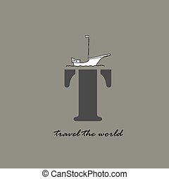 Travel the world Text
