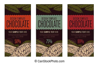 Chocolate packaging design template