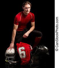 American Football Player - American football player Studio...