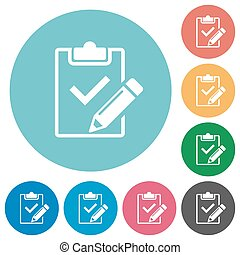 Flat fill out checklist icons - Flat fill out checklist icon...
