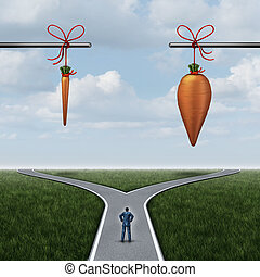 Incentive Concept - Incentive concept as a carrot and stick...