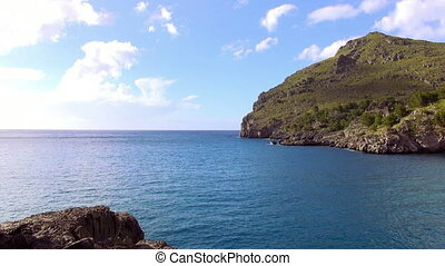 Blue Mediterranean sea and great nature of Mallorca coast...