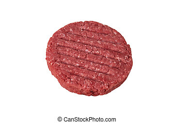 Burger patty - Fresh burger patty isolated on white...