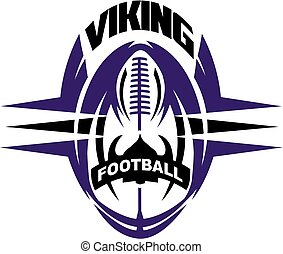 viking football team design with ball and helmet for school,...