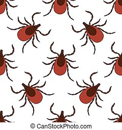 Seamless pattern with Tick. Mite. hand-drawn Tick, Mite ....