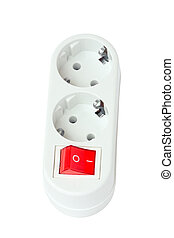 electric splitter - An electric socket - a splitter with a...