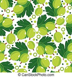 Seamless pattern with gooseberry Design for paper, textile...