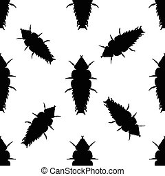 Seamless pattern with Trilobite beetle Duliticola...