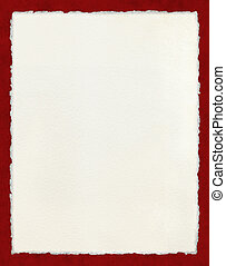 Deckled Paper with Red Border