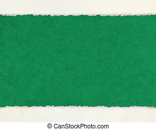 Deckled Edges on Green Paper