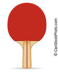 Table tennis paddle - red table tennis paddle, standing...