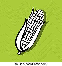 corn icon design, vector illustration eps10 graphic