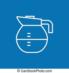 Carafe line icon - Carafe thick line icon with pointed...
