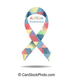 Autism awareness icon abstract illustration vector eps10