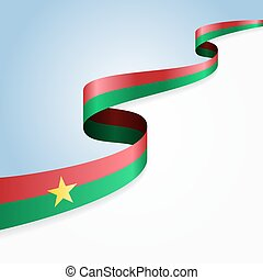 Burkina Faso flag background. Vector illustration.