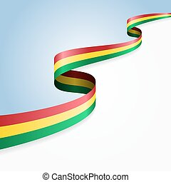 Bolivian flag background Vector illustration - Bolivian flag...