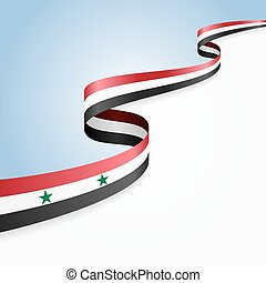 Syrian flag background Vector illustration - Syrian flag...
