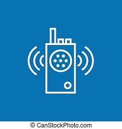 Radio set line icon. - Radio set thick line icon with...