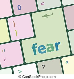 fear button on computer pc keyboard key vector illustration