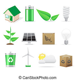 Eco icons  - Environment and eco icons for design