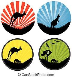 four kangaroo in a circle