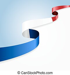 French flag background.