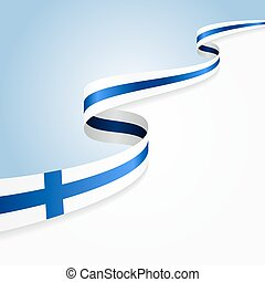 Finnish flag background. - Finnish flag wavy abstract...