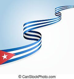 Cuban flag background.