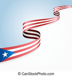 Puerto Rico flag background - Puerto Rico flag wavy abstract...