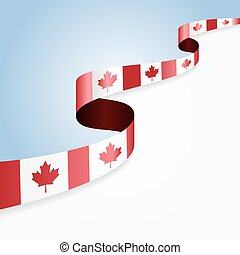 Canadian flag background.